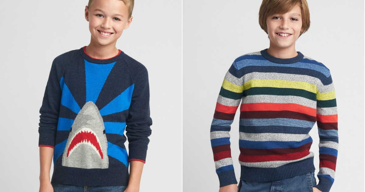 d58a9990ad46e Free Shipping on All GAP Orders + Stackable Codes = Boys Sweaters ...