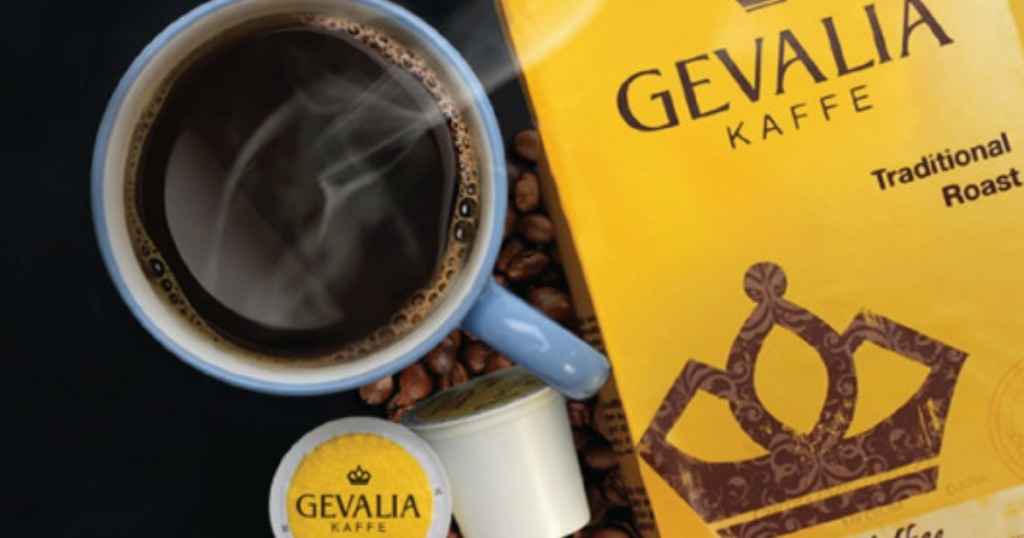 Gevalia K-Cups with coffee cup