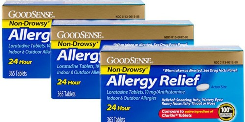 Amazon: GoodSense Allergy Relief Loratadine Tablets 365-Count Just $10.44 Shipped