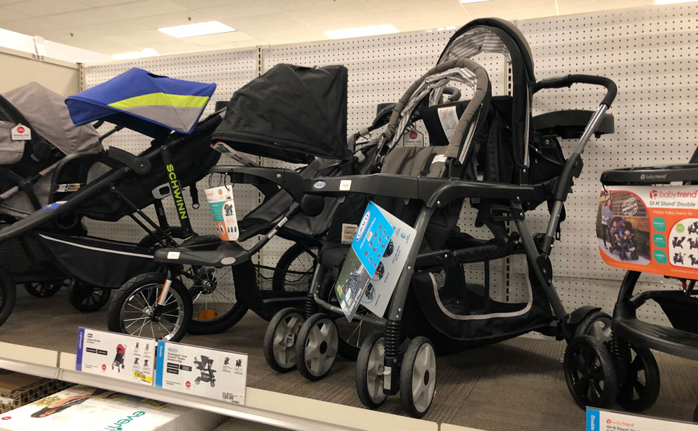 This Graco Double Stroller Can Hold Two Infant Car Seats Plus It Has A Standing Platform And Bench Seat For Your Older Child Even Better