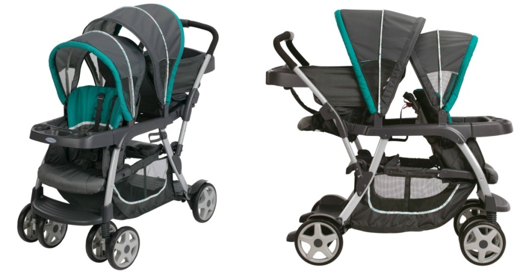 Graco Ready2Grow Stand and Ride Double Stroller ONLY $74 ...