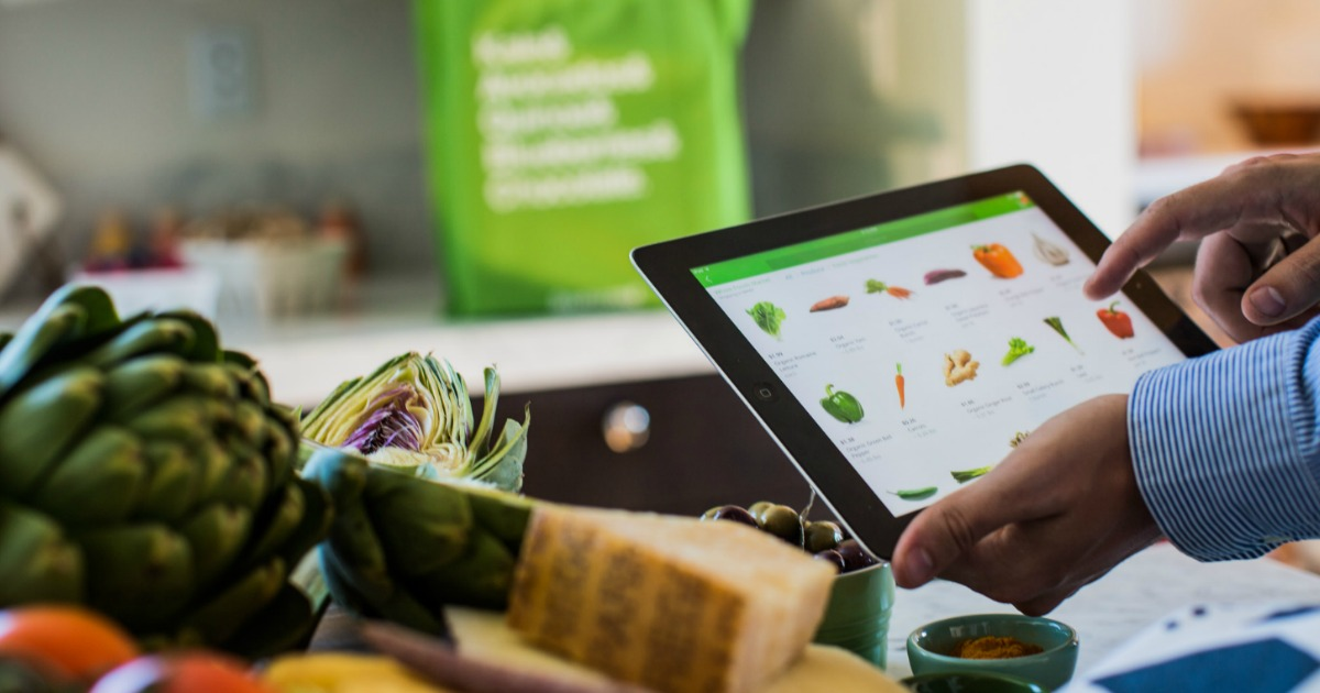 ALDI adds online grocery shopping delivery service – Instacart app on an iPad