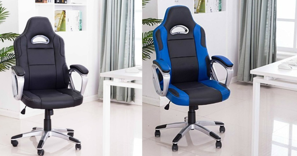 Incredible Amazon Racing Style Gaming Office Chair Only 69 99 Shipped Machost Co Dining Chair Design Ideas Machostcouk