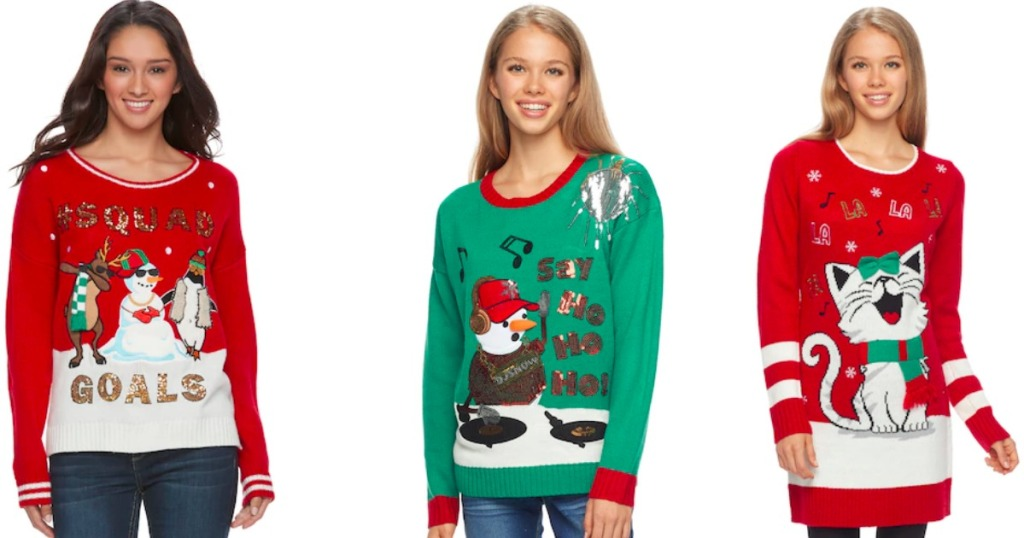 Kohl\'s: Juniors Ugly Christmas Sweaters Just $14.99 (Regularly $50 ...