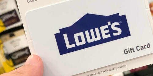 $100 Lowe's eGift Card Only $90 on Amazon