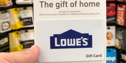 $100 Lowe's eGift Card Only $90
