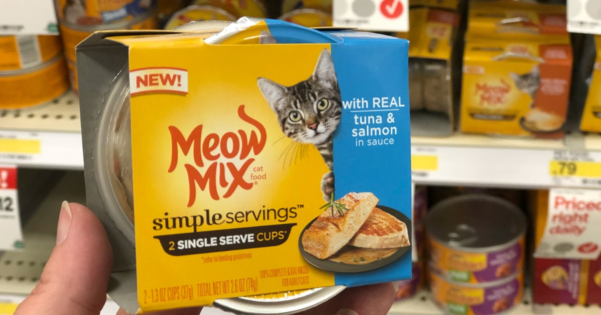 graphic about Meow Mix Coupon Printable identify Fresh Meow Blend Straightforward Servings Discount coupons \u003d 2-Packs Less than 30¢ at