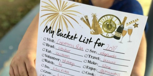 FREE Printable New Year's Bucket List