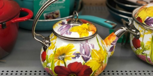 Walmart: Pioneer Woman Tea Kettle Only $14.97 (Regularly $25) + More