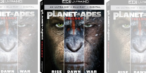 Planet of the Apes Trilogy 4K UHD + Blu-ray Combo Pack Just $16.96 Shipped (Regularly $35)