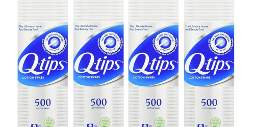 Amazon: Q-tips 4-Pack Cotton Swabs 500-Ct Only $8.97 Shipped (Just $2.24 Per Pack)