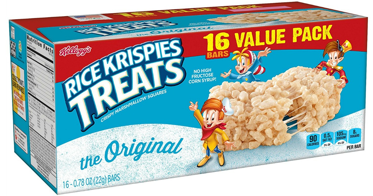Amazon: SIX Rice Krispies Treats 16-Count Boxes $16.23 ...