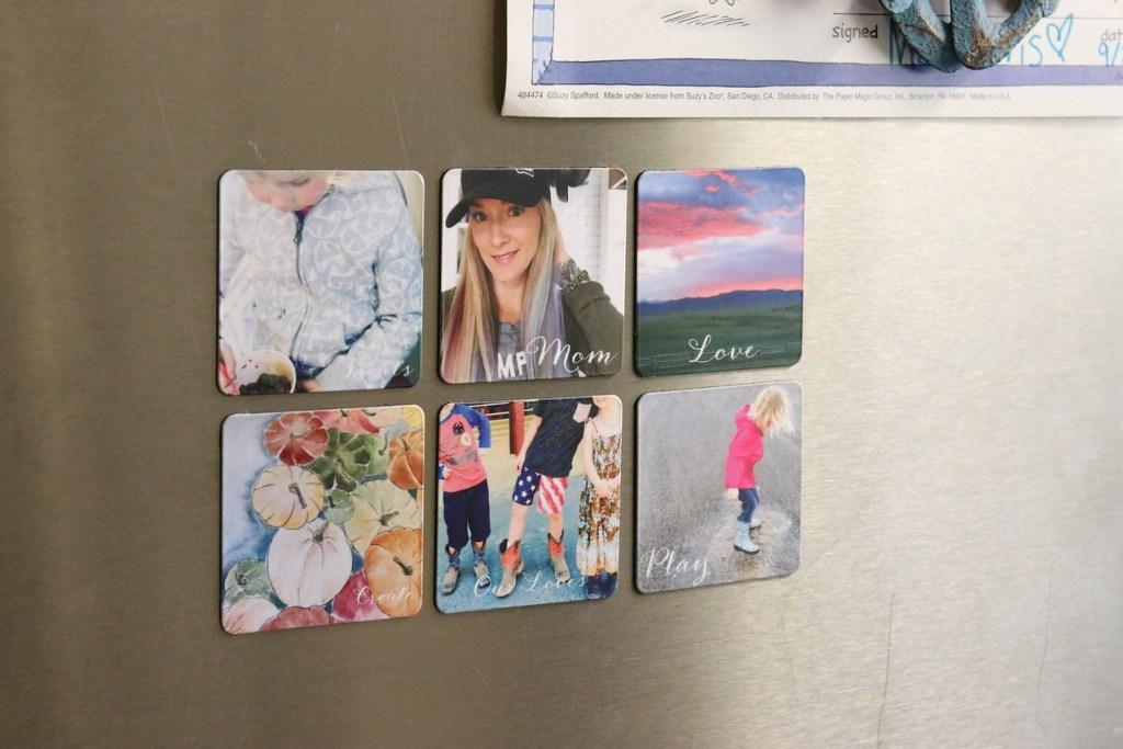shutterfly magnets on fridge
