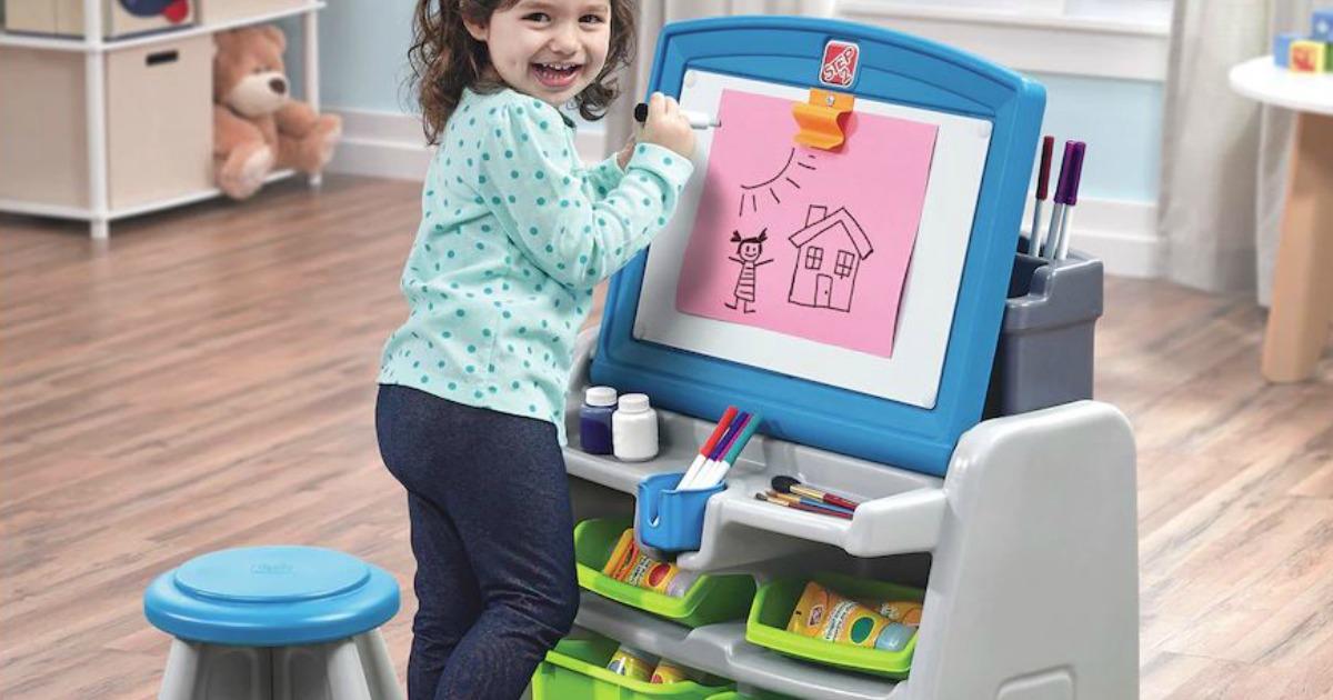 Kohl S Step2 Flip Amp Doodle Easel Desk Amp Stool Only 35 99
