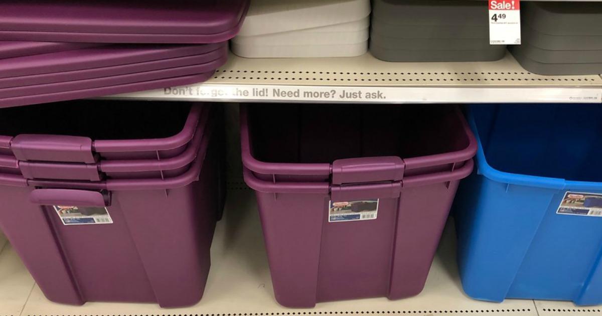 Sterilite 20 Gallon Storage Container, 20 Gallon Storage Tote