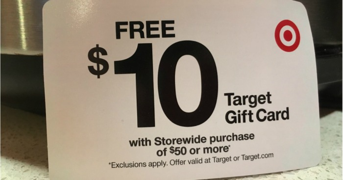Possible Free 10 Target Gift Card W 50 Store Purchase