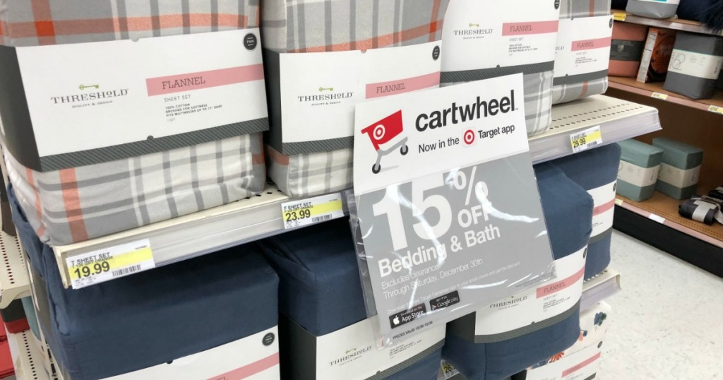 Target Bedding Bath Sale Online In Store Flannel Sheet Sets As Low As 11 89 More Hip2save