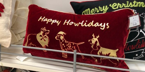 50% Off Holiday Clearance at T.J. Maxx (Cute Pillows, Gift Baskets & More)