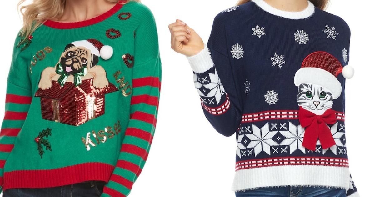 Kohl\u0027s Juniors Ugly Christmas Sweaters Just $14.99