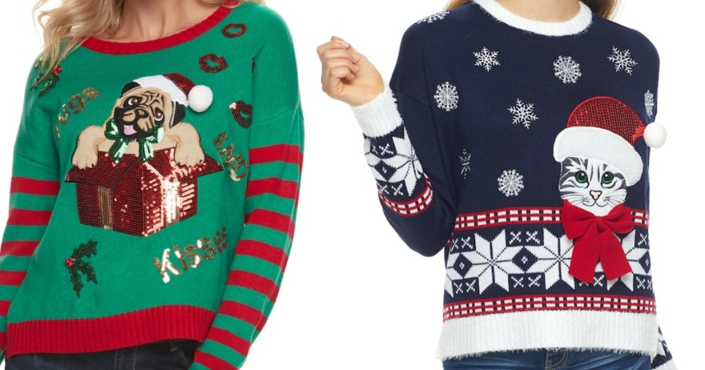 Kohls Juniors Ugly Christmas Sweaters Just 1499 Regularly 50