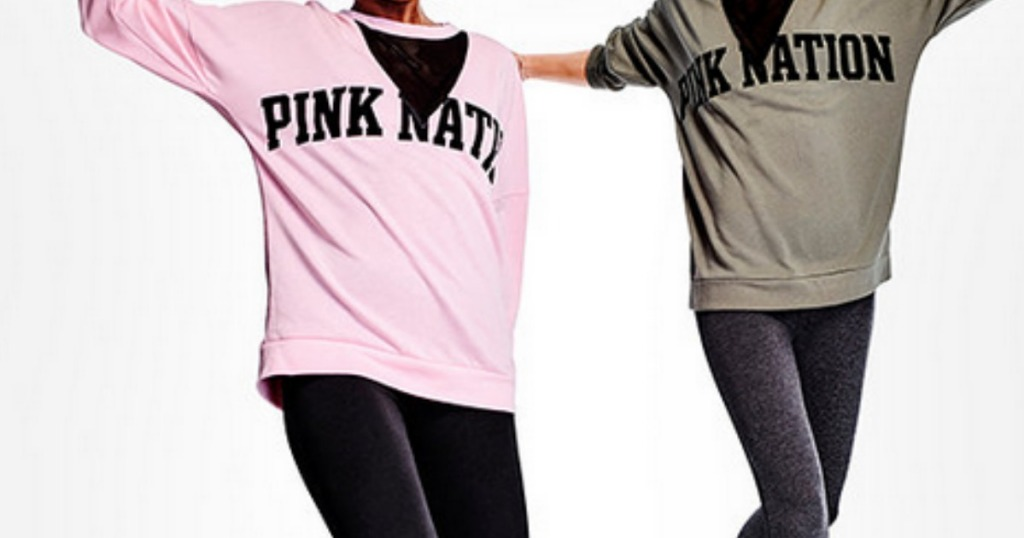 1095f3e285872 Victoria's Secret PINK Crew Shirt, Leggings & TWO Body Mists $53 ...