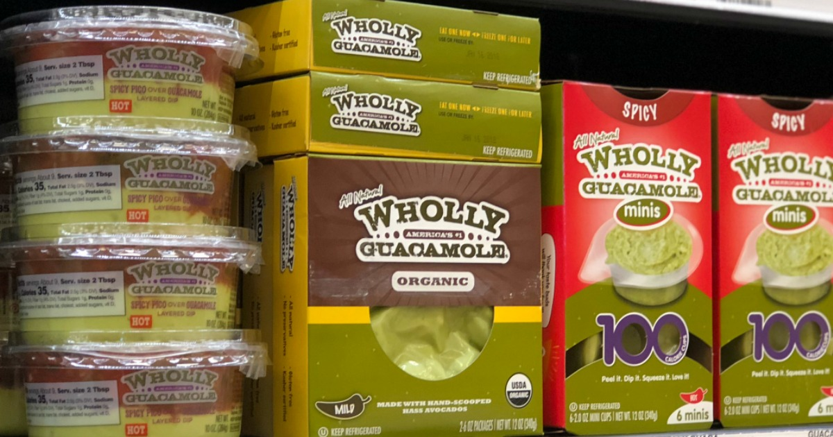 guacamole products on display in-store