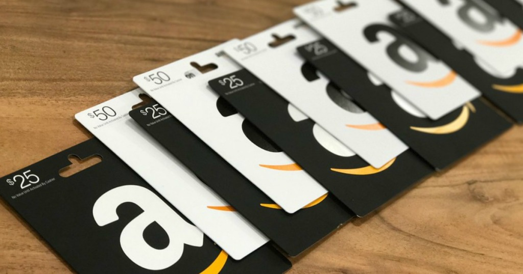 Amazon Gift Cards in a row