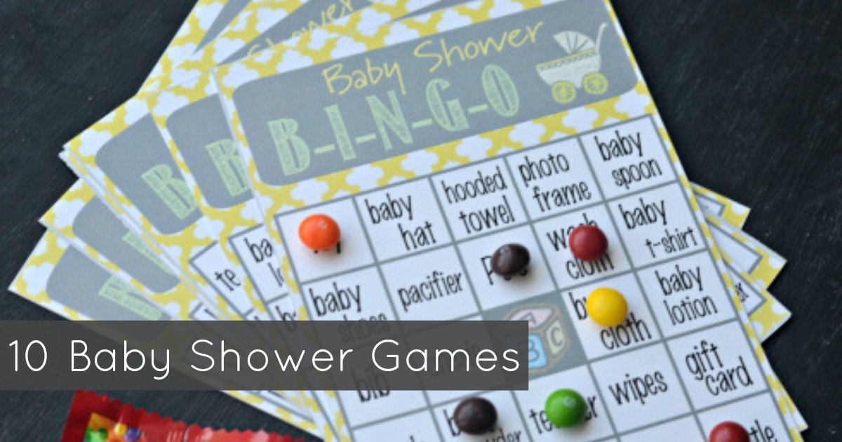image about Free Printable Baby Shower Bingo Cards for 30 People referred to as Ultimate 10 Little one Shower Game titles - Hip2Conserve