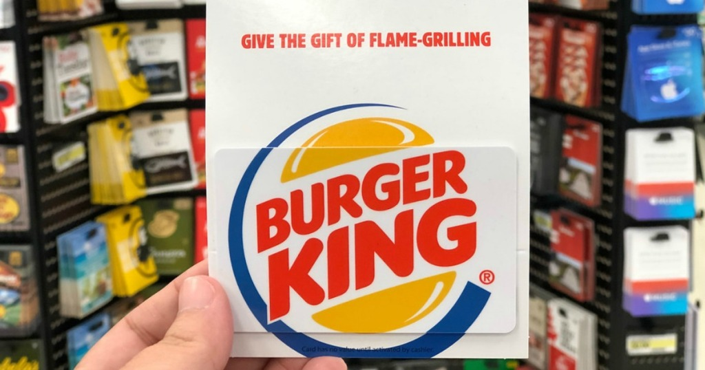 hand holding Burger King Gift Card
