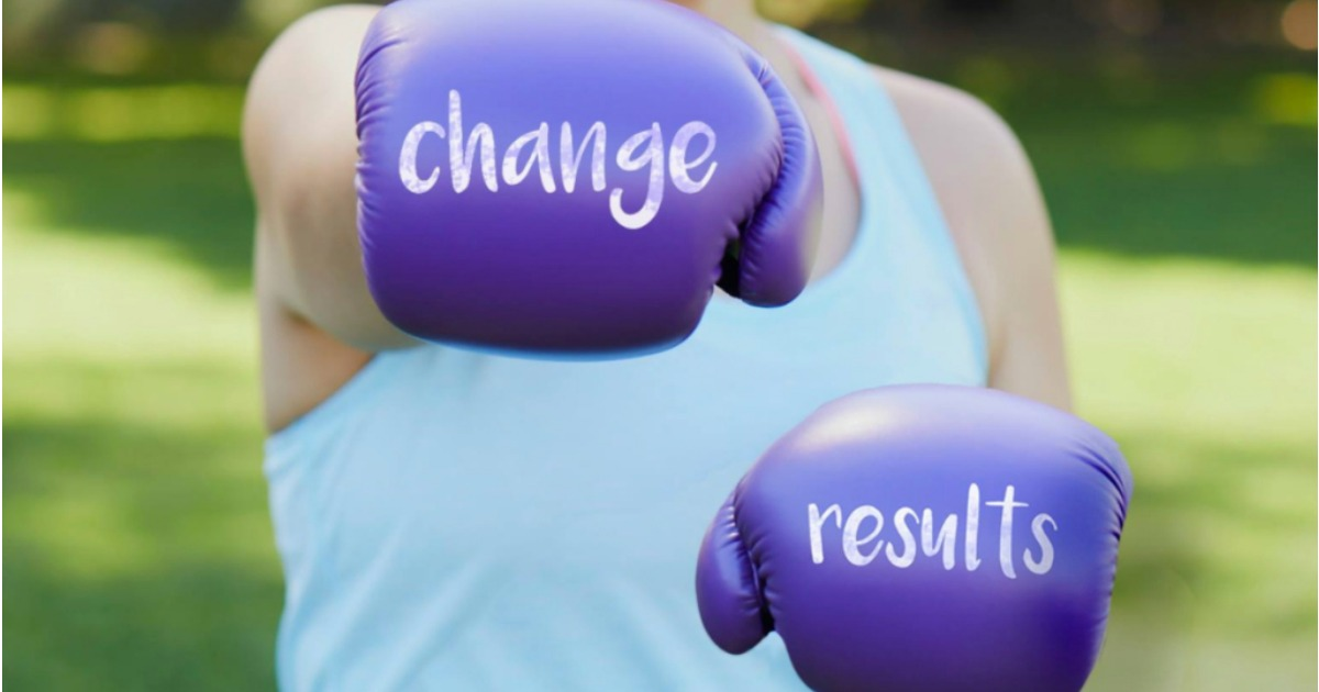"""free weight watchers starter kit – boxing gloves read """"change results"""""""