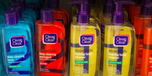 New Clean & Clear Coupon = Skin Care Products from 72¢ After Cash Back at Walmart