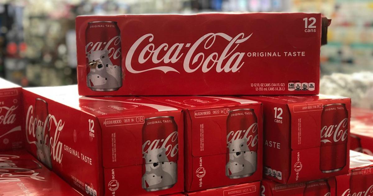 Coke on shelf at cvs
