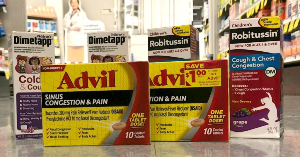 Dimetapp Robitussin Advil Sinus Rite Aid