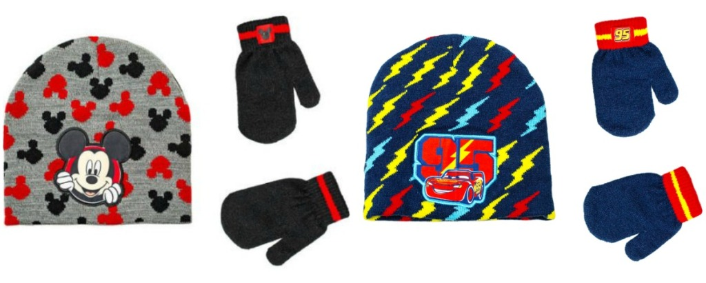 ec6665392fa26 Mickey Toddler Boy Hat and Mitten Set Only 97¢ $2.99 (regularly $7.87)