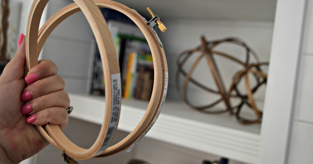 embroidery hoops used for a craft