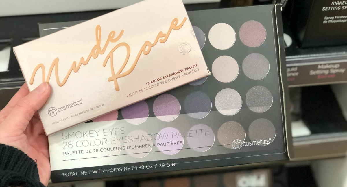 hand holding a palette of eyeshadow best make up brands cheap vs luxury