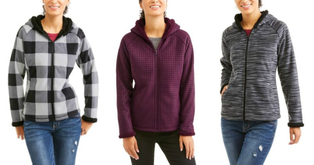 ba39012f07a ... this Women s Hooded Arctic Fleece Soft Shell Jacket for just  7.50  (regularly  22.96)! This jacket comes in three colors and has a drawstring  at the ...