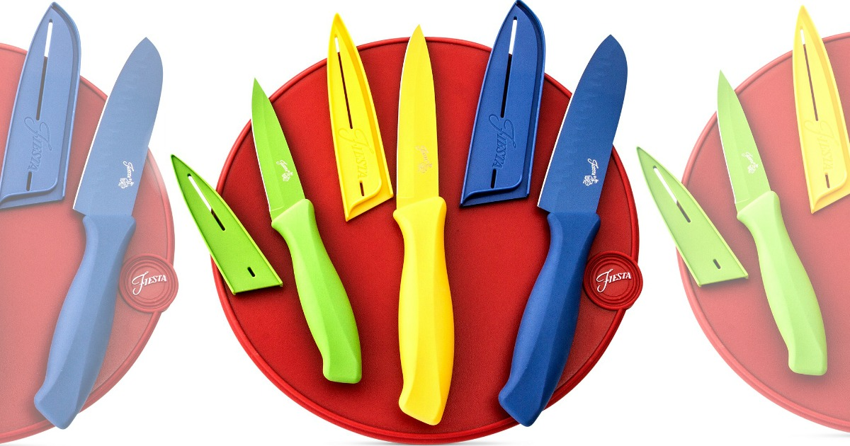 Macy's: Fiesta 7-Piece Colored Knives AND Cutting Board Set ONLY $12.43 (Regularly $50)