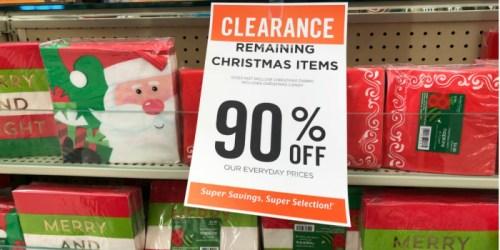 90% Off Christmas Clearance at Hobby Lobby