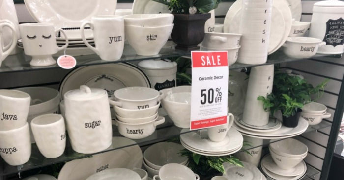 50 Off Rae Dunn Inspired Ceramics Home Decor At Hobby Lobby