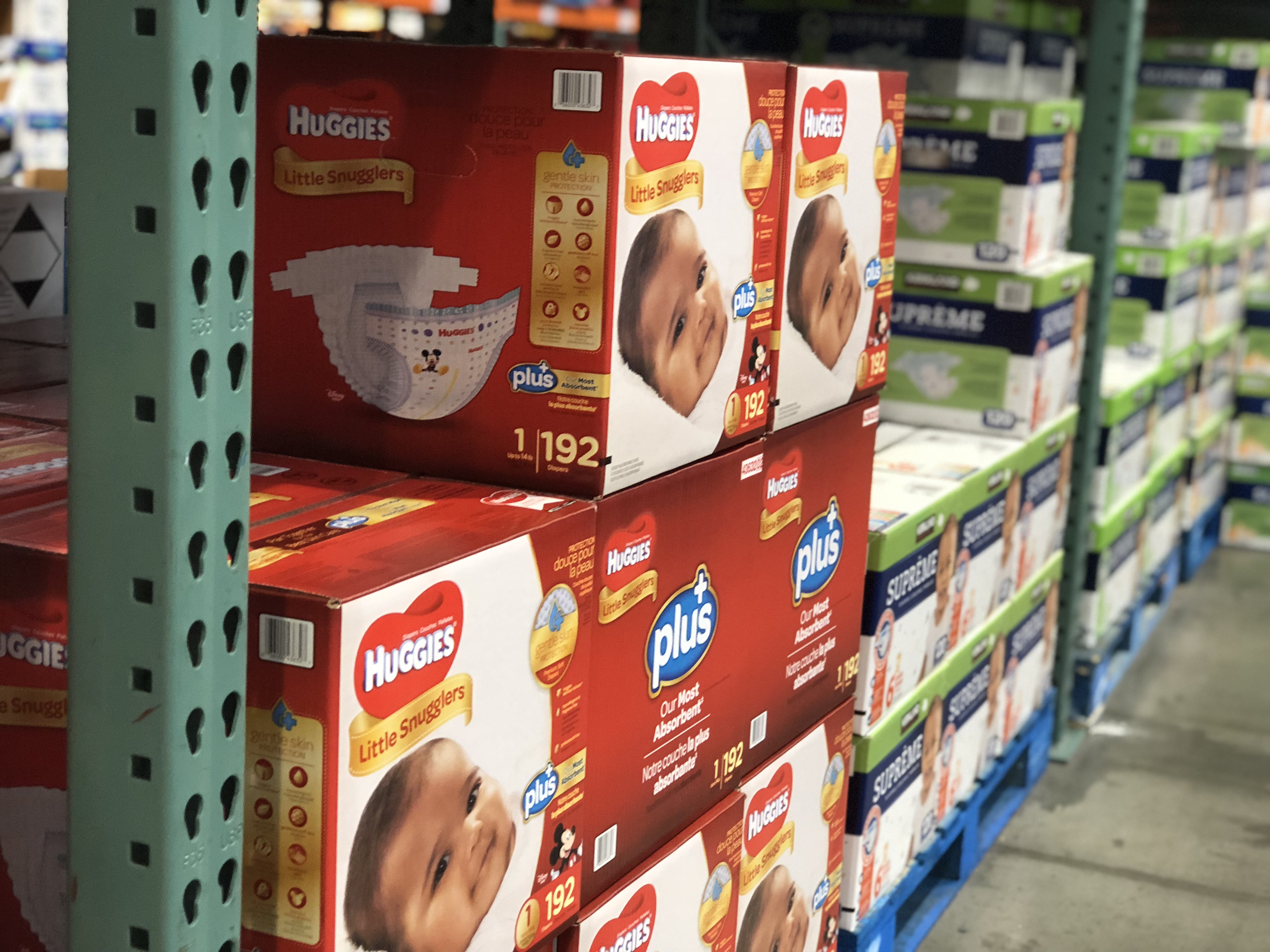 Hip2Save's guide to save money on disposable diapers — Huggies Little Snugglers COstco