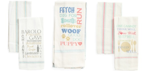 T.J. Maxx: Cute Kitchen Towels 2-Packs Only $4.99 Shipped