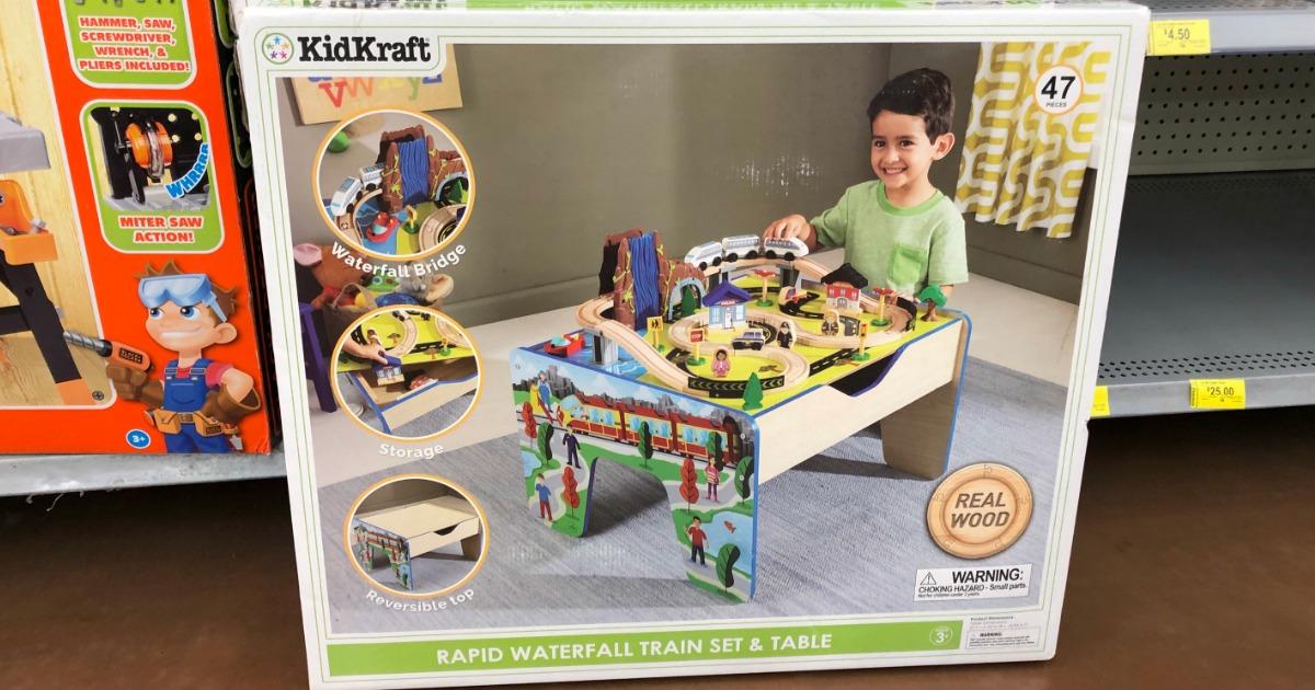 Walmart Clearance Find Kidkraft Rapid Waterfall Train Table As Low