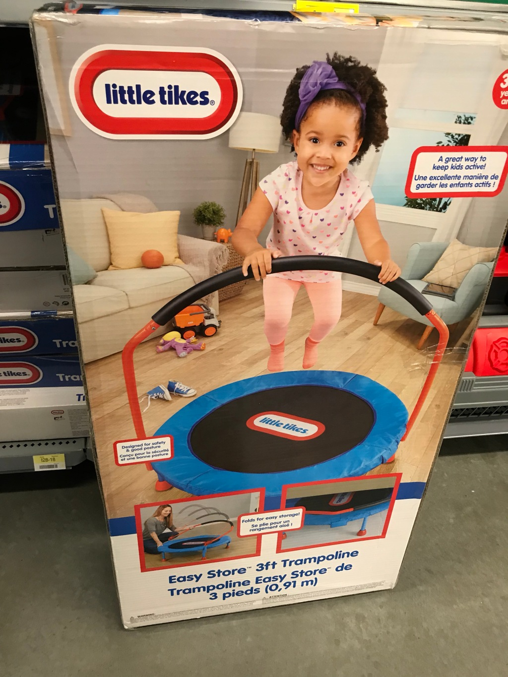 little tikes easy store trampoline