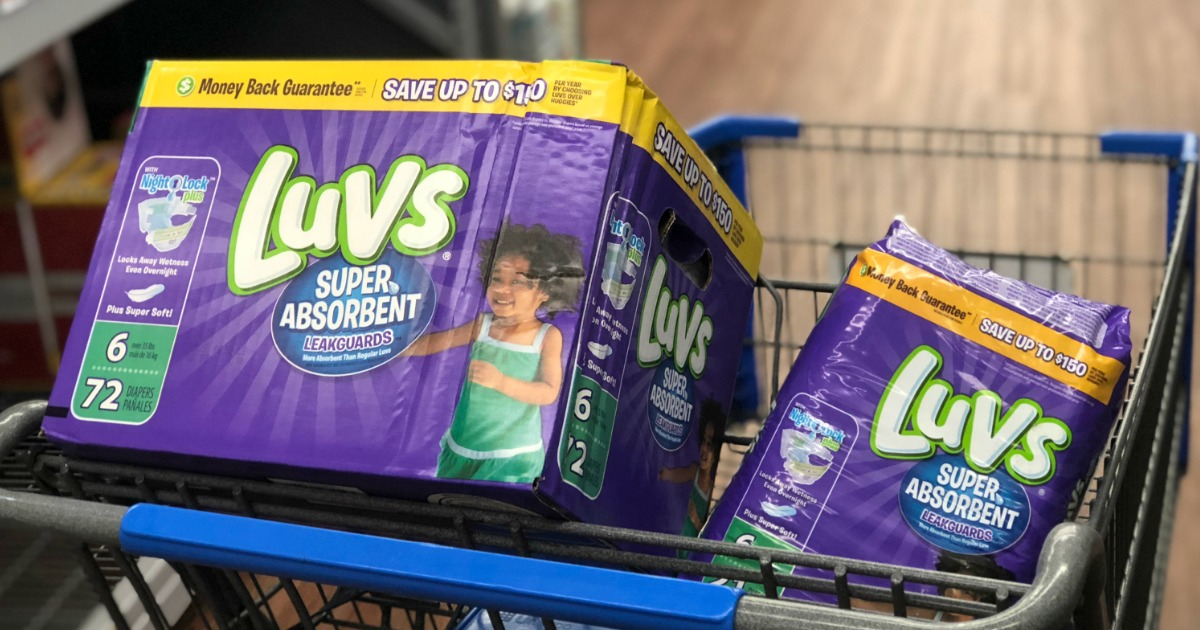 Hip2Save's guide to save money on disposable diapers — Luvs at Walmart
