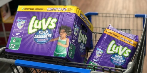 High Value Luvs Diapers Insert Coupon = $3.97 Per Bag at Walmart (Under 11¢ Per Diaper)