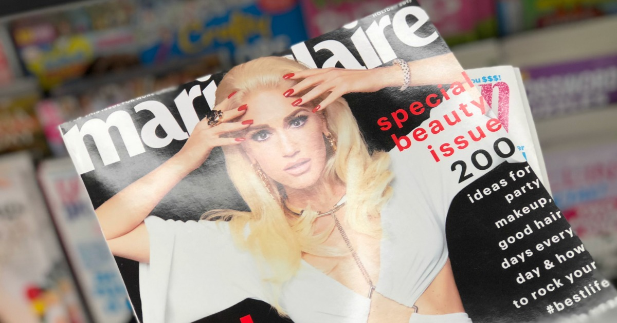 Gwen Stafni on Marie Claire magazine cover