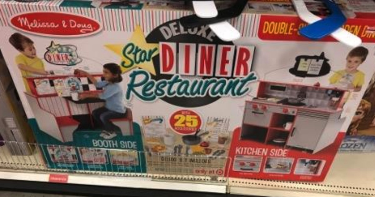 Melissa Doug Star Diner Restaurant Play Set Kitchen, Wooden Diner Play Set, Two