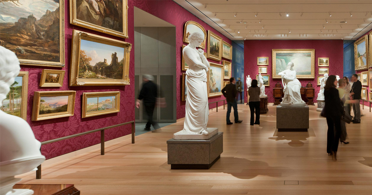 museum with art and statues