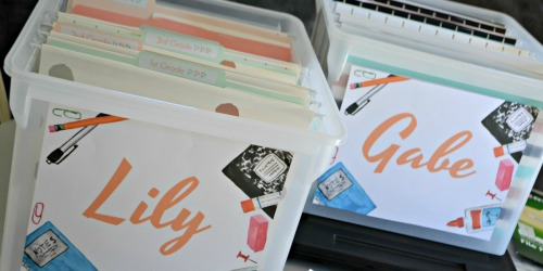 Our Favorite Method to Organize School Papers (Free Printable Labels Included)